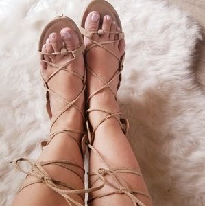 Shoedazzle Gladiator sandals in nude